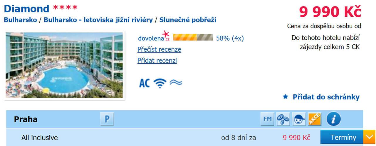 Bulharsko - All inclusive dovolená letecky