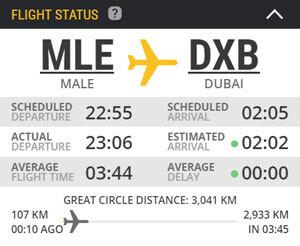 Doba letu na Maledivy