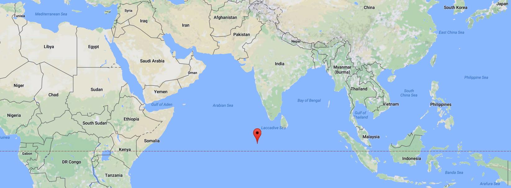 Kde leží Maledivy - zeměpisná poloha