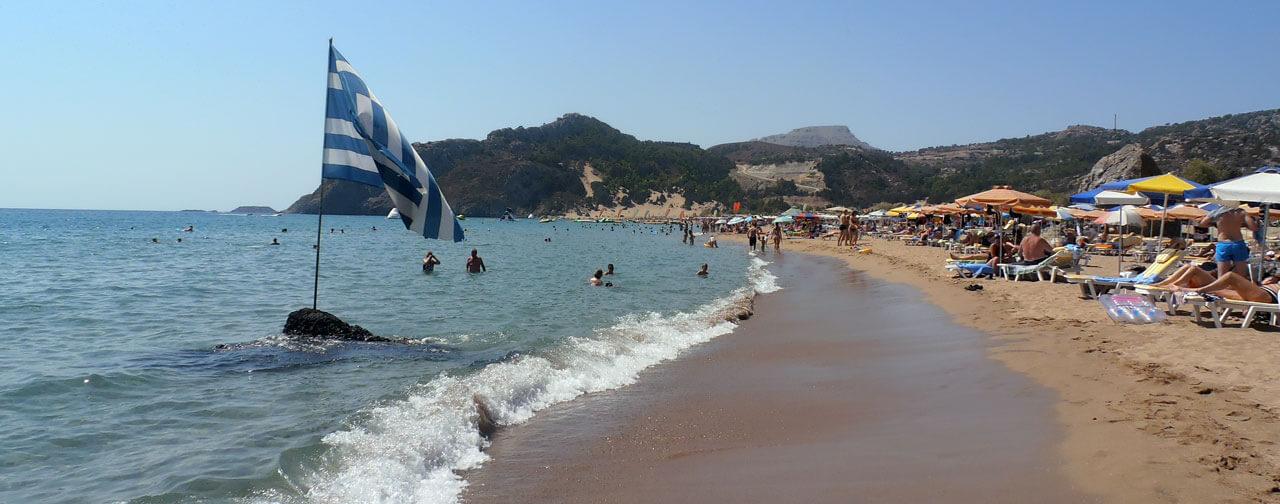 Pláž Tsambika, Rhodos