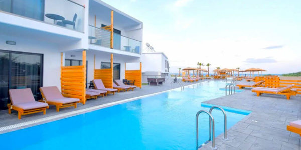 Hotel Evita Bay, Rhodos, Řecko