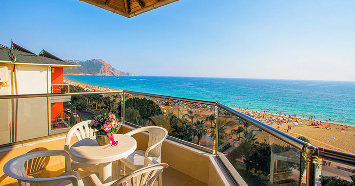 Hotel Kleopatra Ada Beach, Alanya, Turecko